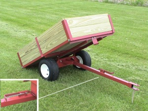Single axle lawn cart