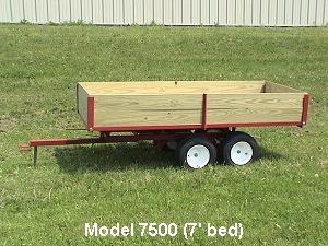 tandem axle garden trailers