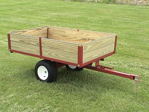 single axle lawn cart